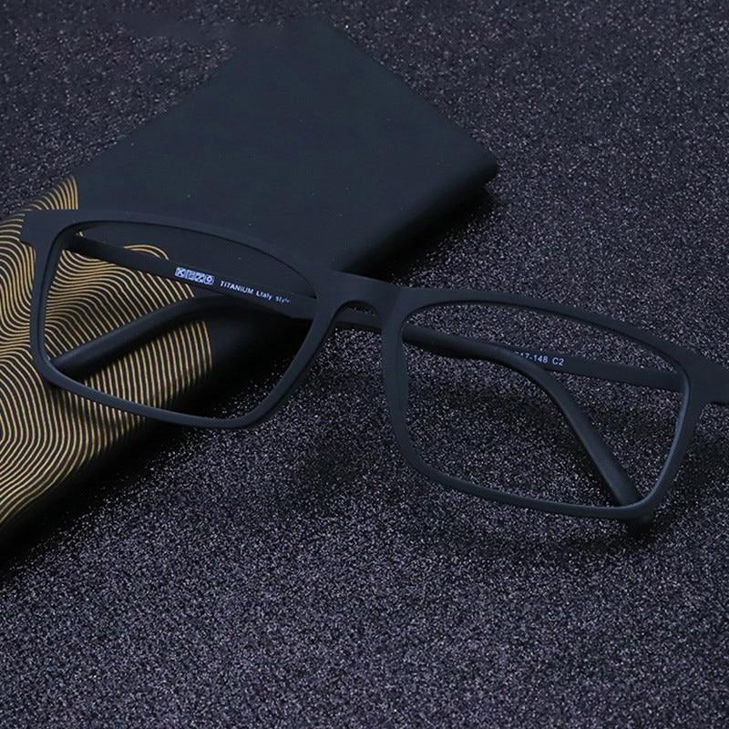 Vazrobe-إطار نظارة من التيتانيوم للرجال والنساء ، خفيف للغاية ، مقاس كبير 150 مللي متر ، إطار نظارات أسود غير لامع لقصر النظر ، ديوبتر مضاد للأزرق