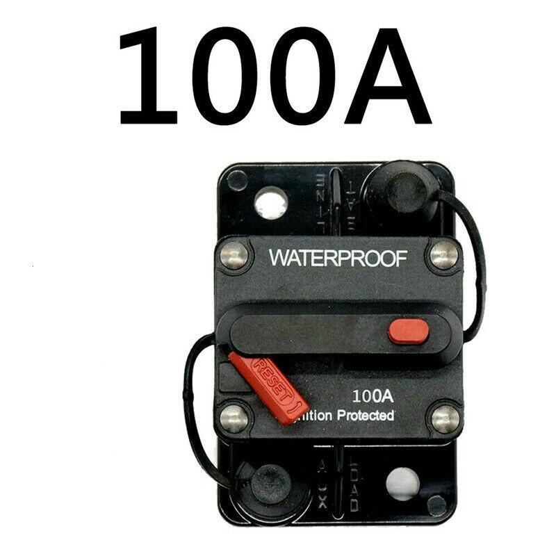 30A-300A AMP Circuit Breaker Fuse Reset 12-48V DC Car Boat Auto Waterproof Fuse Box Fuse Car Fusibles Amplificador