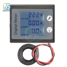 Ac 80-260V 100A Lcd Digital Ammeter Voltmeter Wattmeter Power Spanning Stroom Watt Power Meter Tester Met Achtergrondverlichting 110V 220V