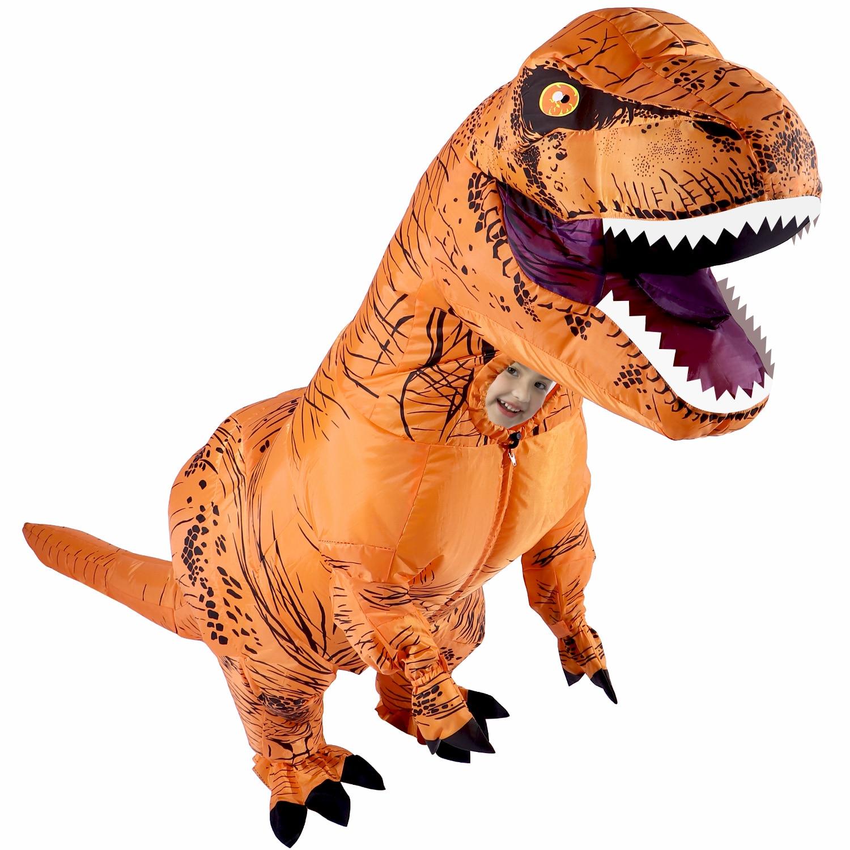 Disfraz inflable para niños y adultos, disfraces de dinosaurios T REX, disfraz de Mascota para hombres y mujeres, dibujos animados de dinosaurio