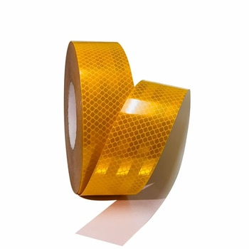 Adhesive Conspicuity Tape Warning Caution Reflector Tape For Cars Trucks Vehicle Bikes Helmets