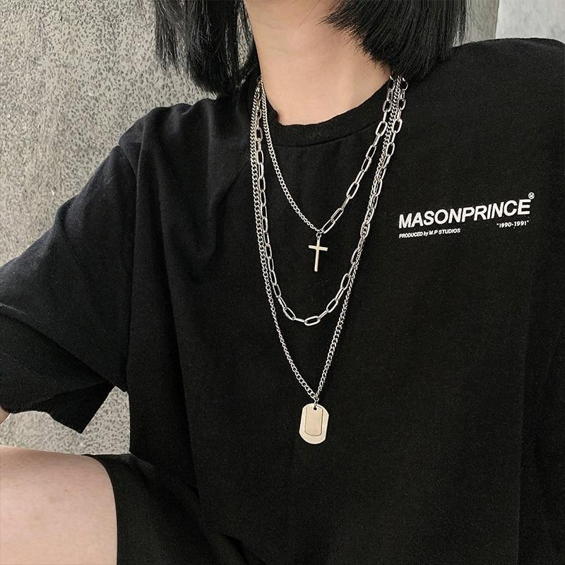 Colgante de estilo Hip Hop personalizado para mujer, collar de suéter que...