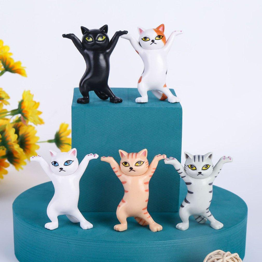 Японская очаровательная Кошка, держатель для ручек, украшение, статуя животного, ручная работа, домашний декор, подарок, ручная работа, иску...