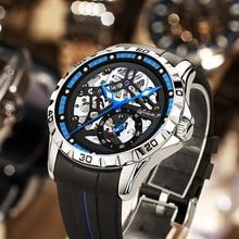 AILANG Original Men's Watch Double Tourbillon Watch Automatic Hollow-out Mechanical Watch Men Lumino