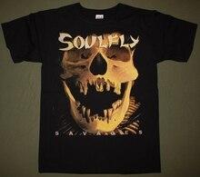 Soulfly Savages Max Cavalera Sepultura Nailbomb Chimaira New Black T Shirt