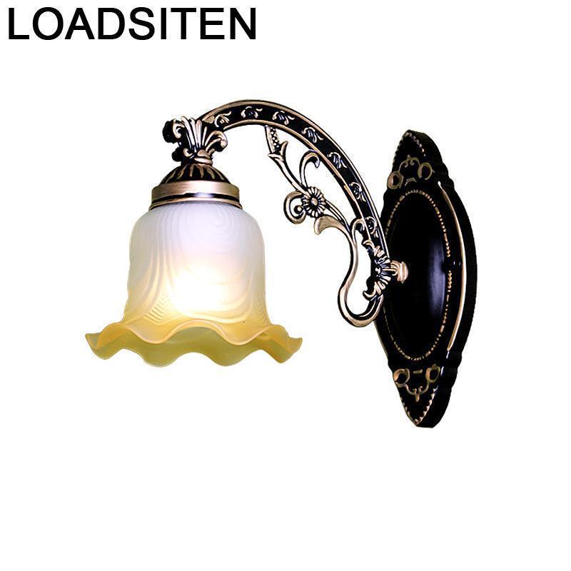 Decor Wandlampen Aplique Vintage Lamp Vanity For Home Applique Murale Luminaire Lampara De Pared Interior Led Wall Bedroom Light