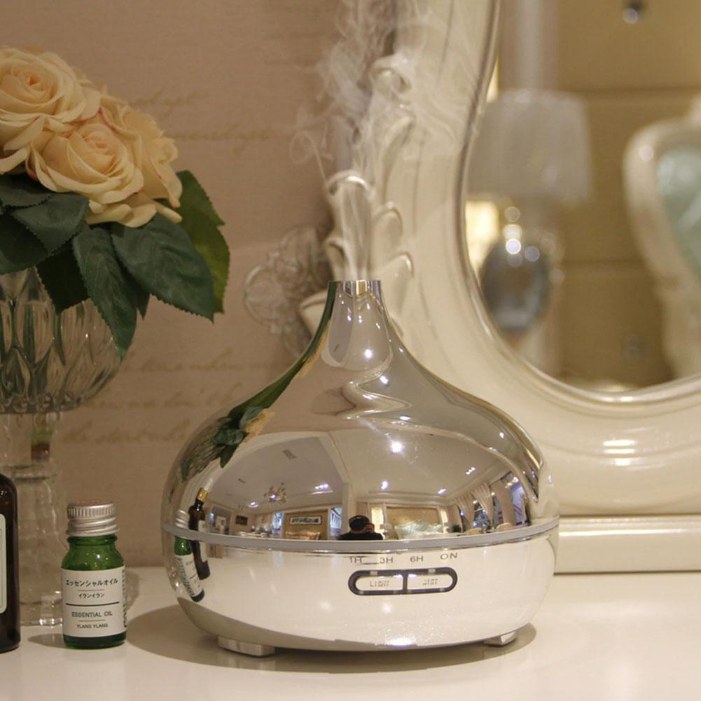 Electroplate Aroma Diffuser Aromatherapy Humidifier 300ml Ultrasonic Oils Humidificador 4 Time for Home Decor Office BPA Free