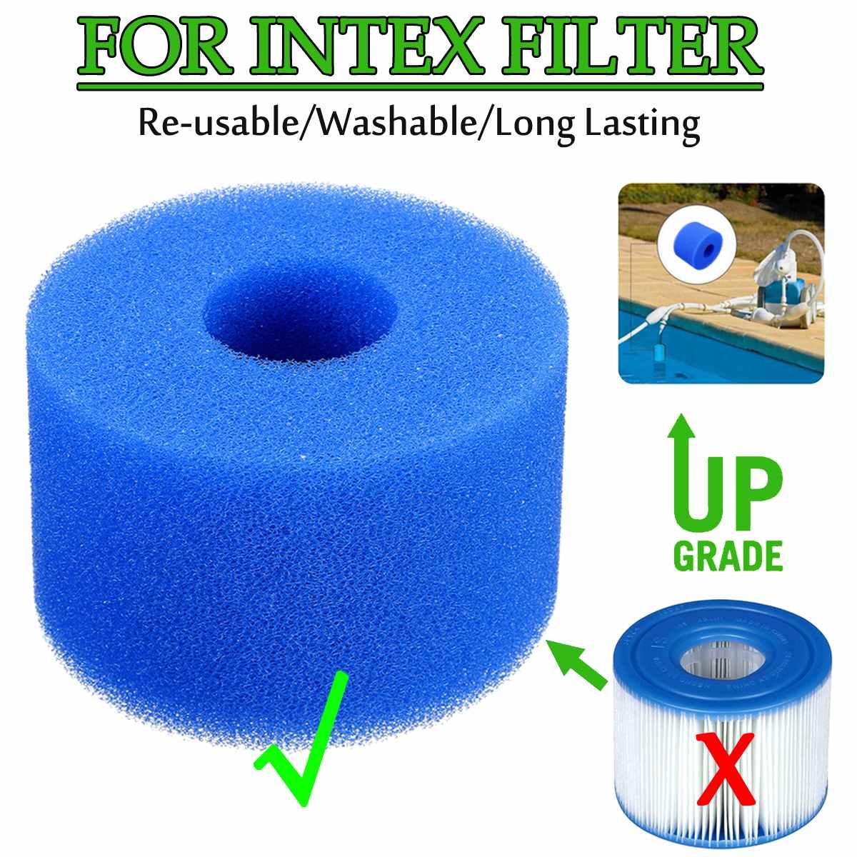 Swimming Pool Foam Filter Sponge Intex S1 Type A Reusable Washable Biofoam Cleaner Pool Foam Filter Sponges Swimming  Accessorie