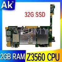 Новый оригинальный 90NP01T0-R00010 60NP01T0-MB5100 для For Asus ZenPad 10 Z300CL таблетки материнской платы 32G SSD 2GB RAM Z3560 CPU Mainboard