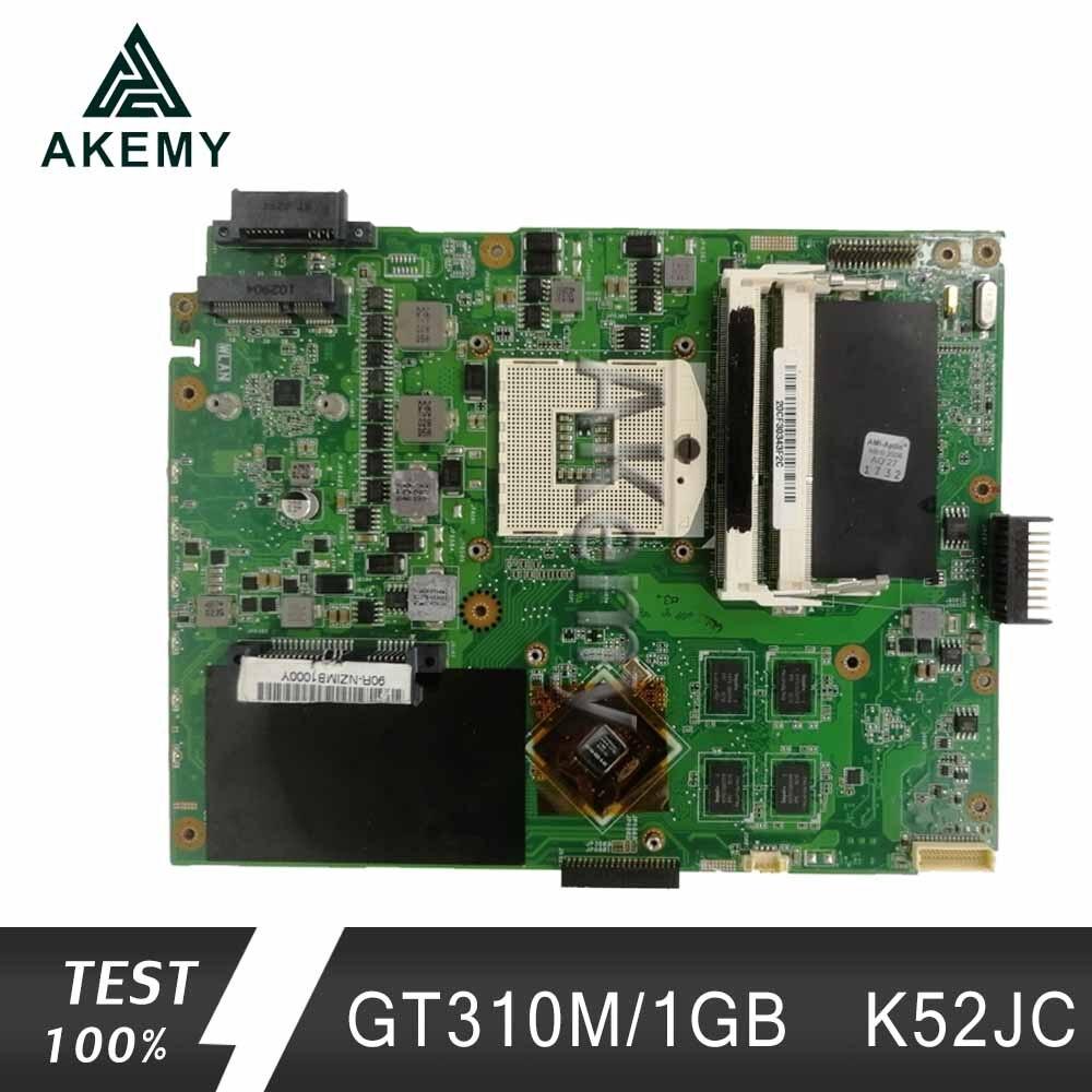 Akemy K52JC Laptop motherboard for ASUS K52JC K52JT K52JR Test original mainboard GT310M/1GB
