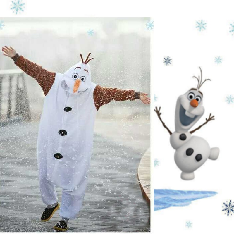 زي رجل الثلج من الفانيلا ، بدلة كوسبلاي بيضاء للبالغين والأطفال ، بيجاما ، فستان حفلات