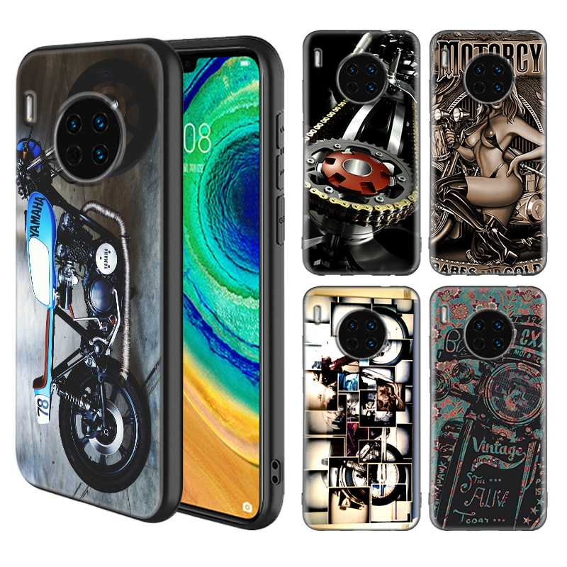 Moto Cross Motorcycle Case for Huawei Mate 30 Pro 5G 20 10 Lite 20Lite 20Pro Nova 5T 5i 5 Black Soft Coque Phone Shell Cover