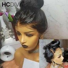 Perruque Lace Frontal Wig 360 naturelle brésilienne Remy   Cheveux lisses, 13x4 13x6, perruque Lace Wig, pre-plucked, avec Baby Hair, 13x4 13x6
