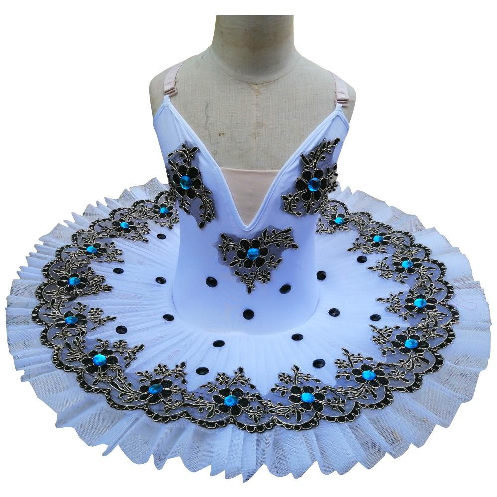 Professional Ballet Tutu Swan Lake White Dance Costume Pancake Girls Classical Ballet Tutu Leotard Ballet Dress For Kids недорого