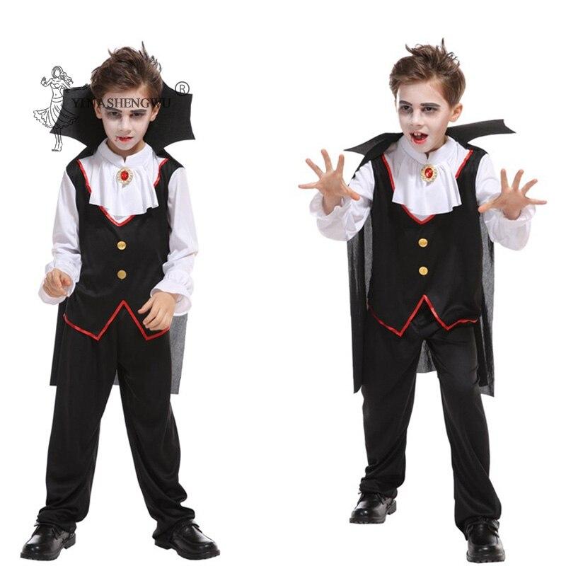 Drácula gótico vampiro robe criança traje vampiro calças de topo manto 3 pcs halloween cosplay trajes crianças carnaval festa roupas
