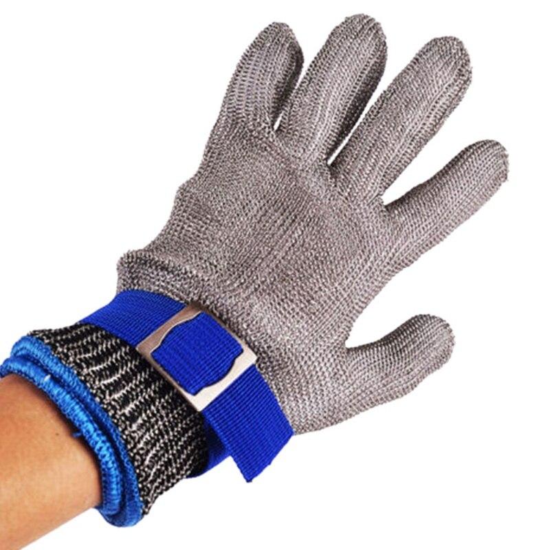 1 ud. Acero inoxidable grado 5 alambre de acero PE anillo de acero guantes de hierro uso izquierda derecha montaña exteriores Accesorios