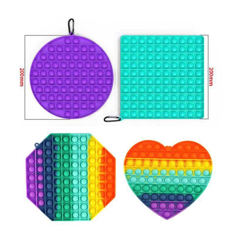 Hot Push Bubble Fidget Toys Pops It Square Antistress Toy Figet Sensory Squishy Jouet Pour Autiste For Adult Children Gift F5 enlarge