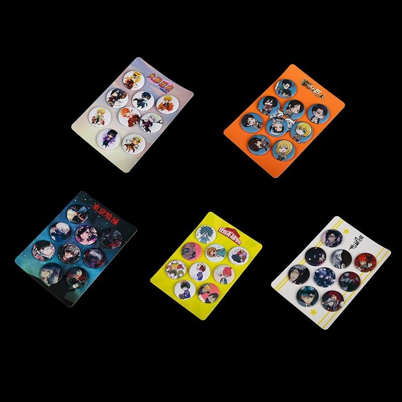9 шт./компл. аниме серии My Hero Academy значок мультфильм для костюма черного дьякона атака гигантский Наруто Брошь СЕРИЯ сумка значок для рюкзака