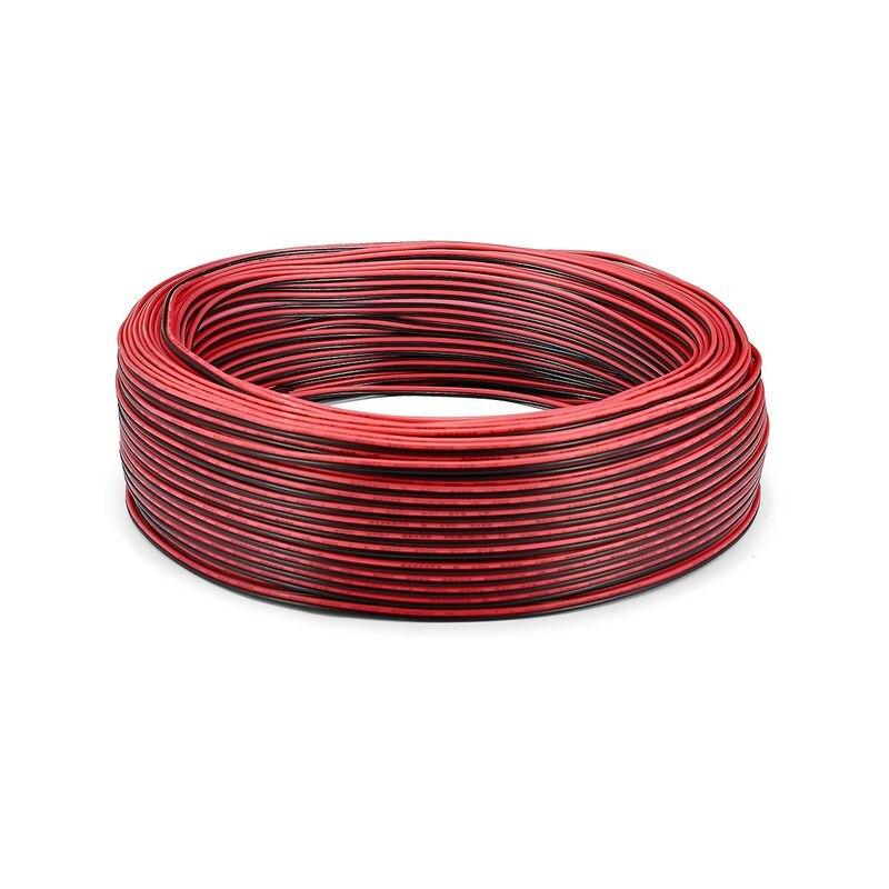 2 rolo 100m led strip conector cabo 022mm ul2468 24awg 2 pinos cabo de fio eletrico