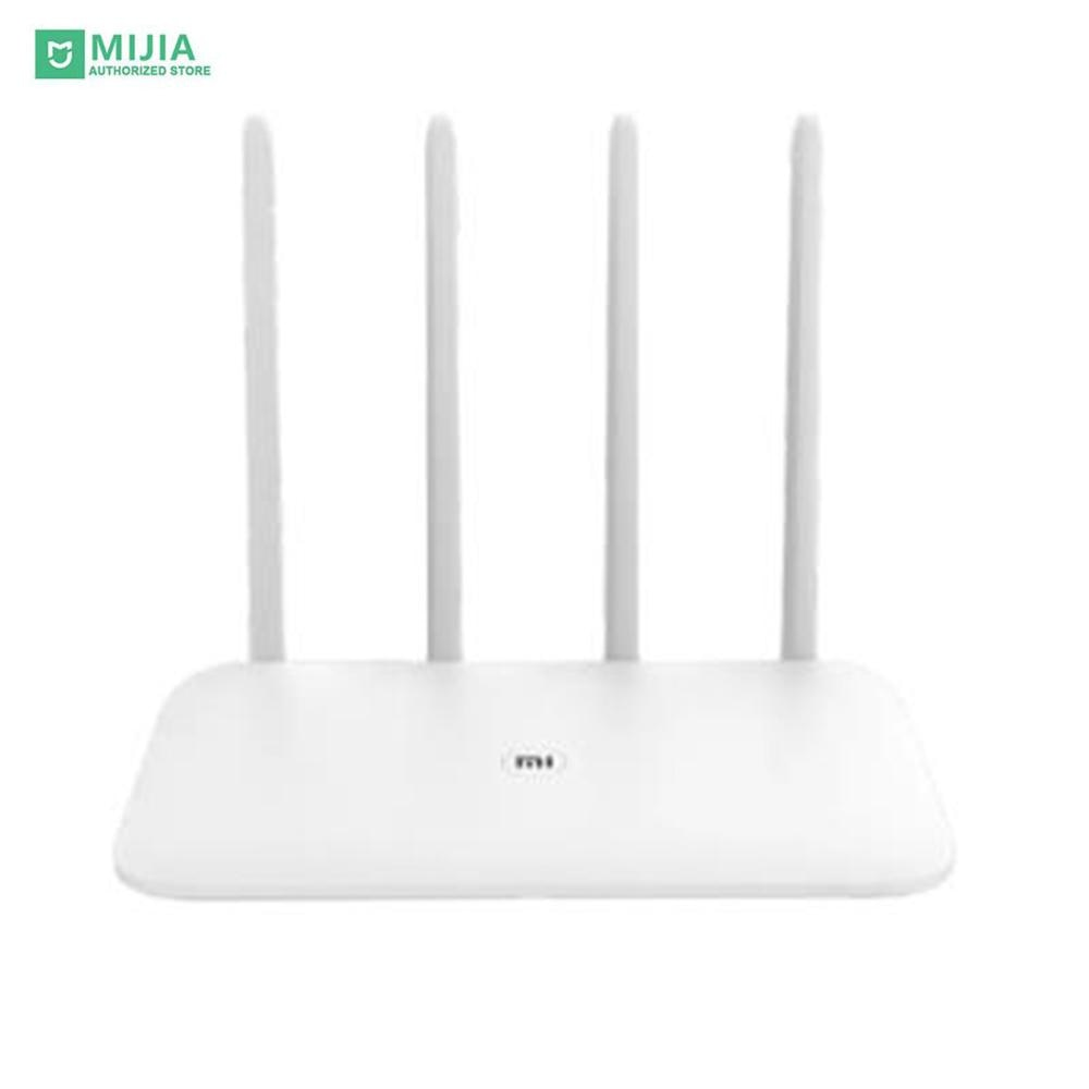 Router Xiaomi 4 Antena de fibra 2,4G/5G de doble banda inalámbrica de doble núcleo ganancia APP control de Almacenamiento de señal de fácil acceso al número de red