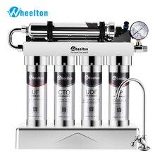 WHEELTON Household Kitchen Under Sink Ultrafiltrationขนาดใหญ่กระแสเงินสดเครื่องกรองน้ำTapสแตนเลสเครื่องดื่มโดยตรง