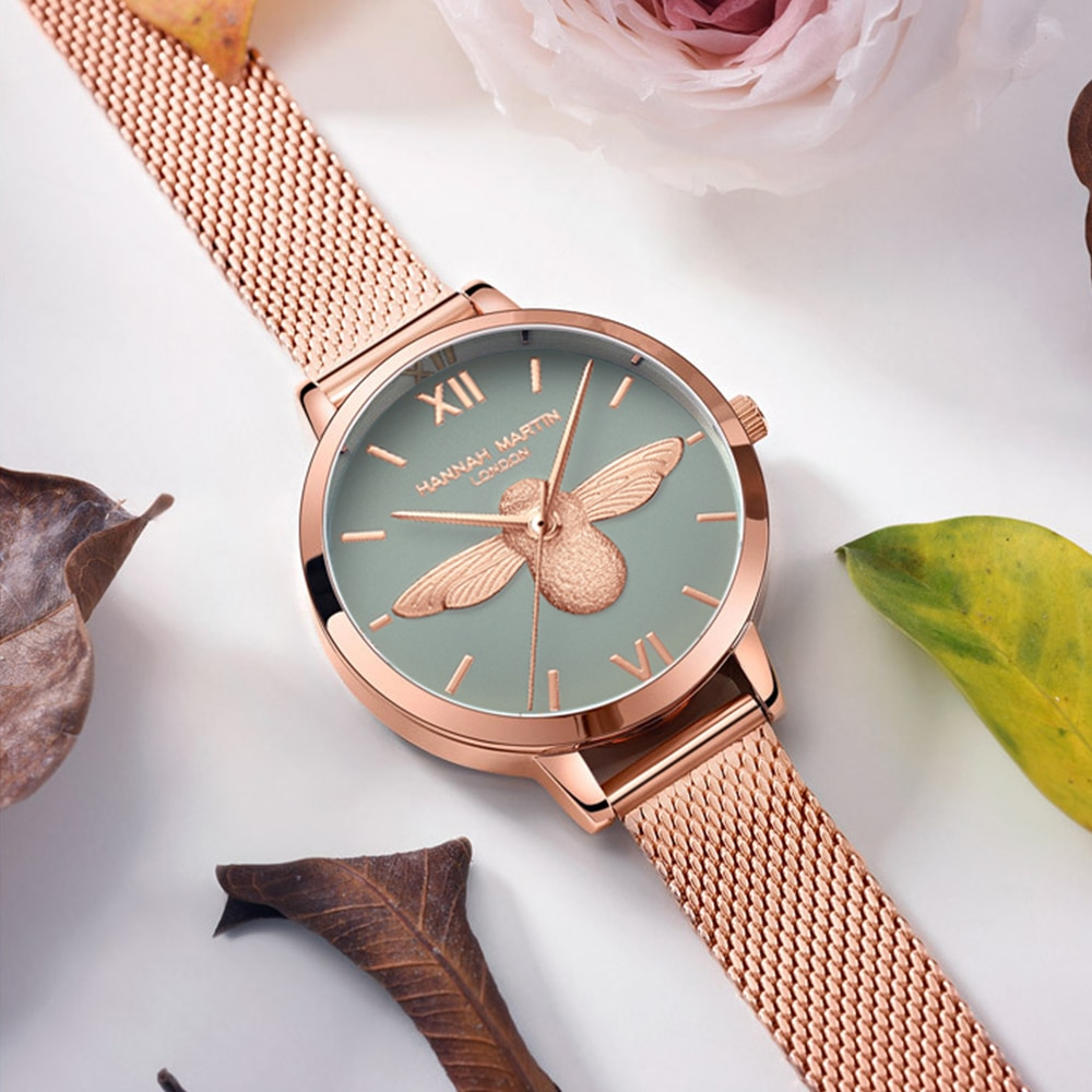 Stainless Steel Mesh Wristwatches Top Brand New Luxury Japan Quartz Movement Rose Gold Designer Elegant Style Watches For Women enlarge