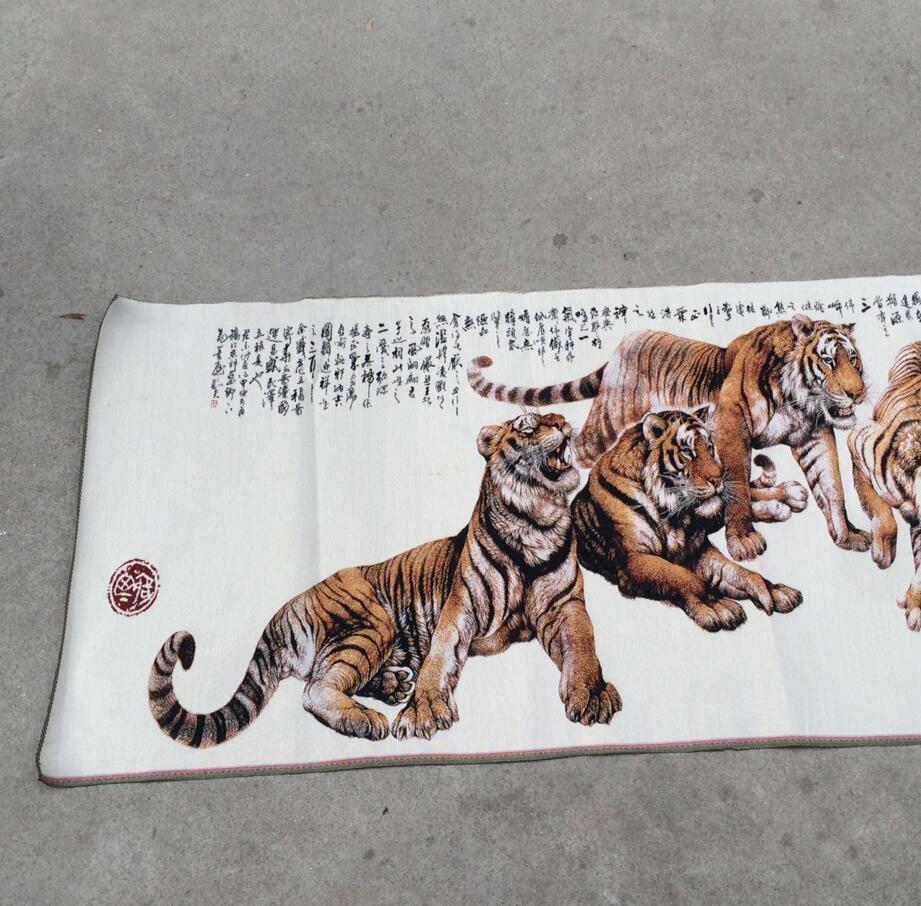 Estátua de cobre fabricante de venda direta tigre de seda tradicional pintura chinesa xiongfeng tiger ruaring imagem pode ser montado