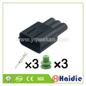 Free shipping 5sets 3pin male of  6189-7471 waterproof automotive electrical cable  connector