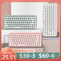 клавиатура,клавиатура для ipad,блютуз клавиатура,Беспроводная клавиатура с Bluetooth, игровая мини-клавиатура с круглой кнопкой для Macbook, ПК, гейм...