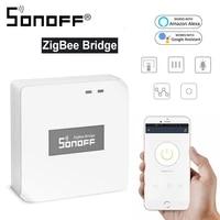 Sonoff     interrupteur intelligent Zigbee Bridge Hub  minuterie de bricolage  Assistant a domicile  commande vocale  fonctionne avec Alexa et Google Home
