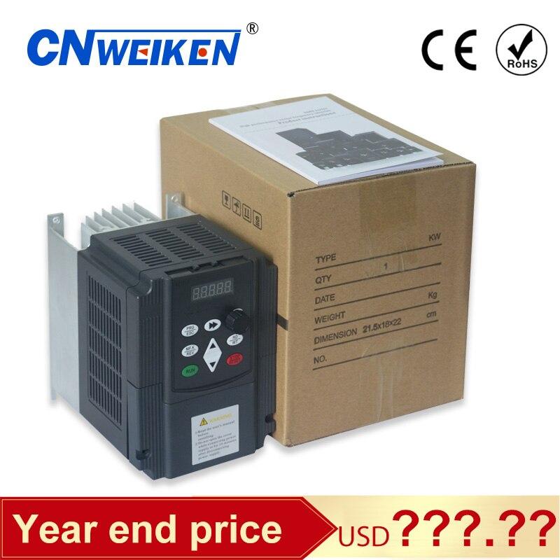Wk600 4kw vfd 380v entrada y salida trifásica ac motor convertidor de frecuencia variable