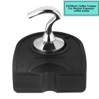 NEW Smart Coffee Tamper Pressure 58MM 51MM R Handle Stainless Steel Coffee Tamper Barista Espresso Tamper Base Coffee Bean Press