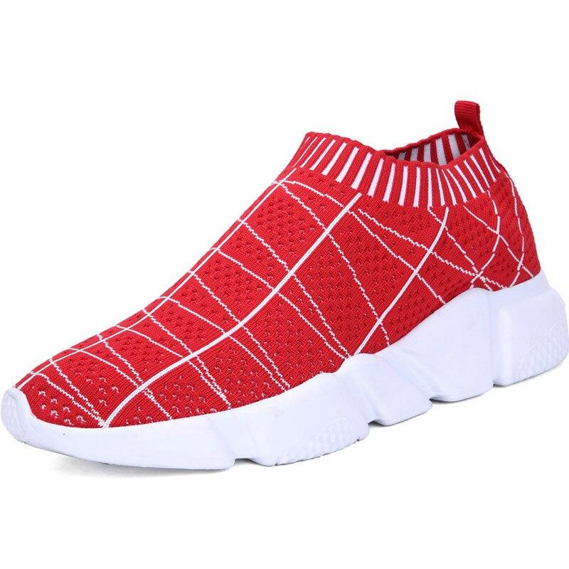 Calcetines elásticos de punto para correr, zapatillas de deporte para hombre, zapatillas deportivas para gimnasio para hombre A104