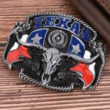 Bricolage Boucle de ceinture américain ouest Cowboy Boucle de ceinture vache tête ceinture accessoires Texas Style ceinture Cowboy Cowgirl Boucle