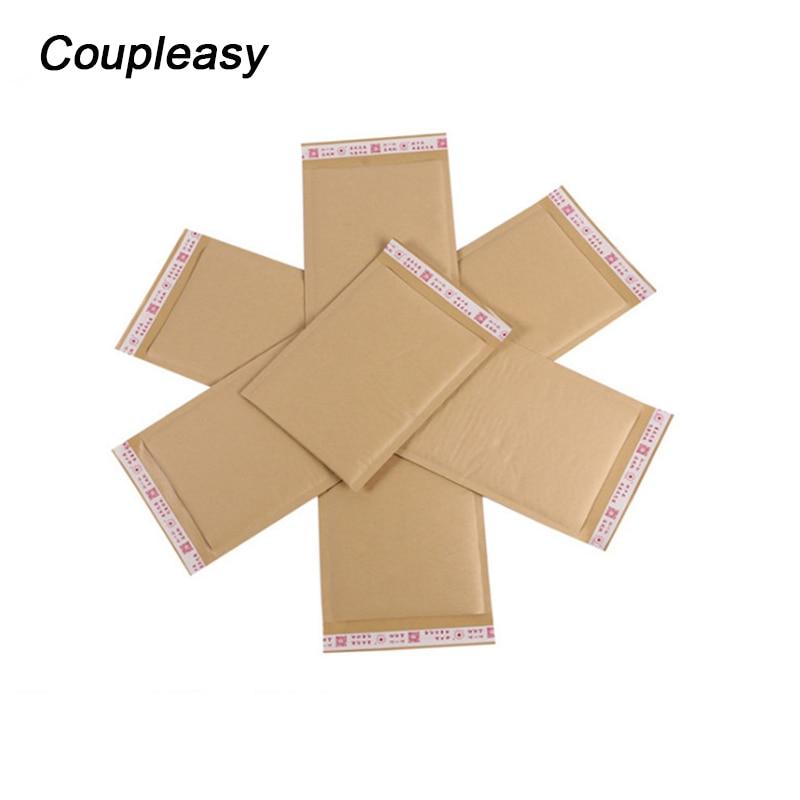 20 piezas impresas de papel Kraft bolsas de sobres de burbujas sobres acolchados de envío sobre con burbuja bolsa de correo suministros