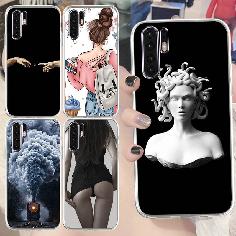 Michelangelo Printed TPU Phone Covers for Huawei Y9A Enjoy 7 7S 8 8E 8 PLUS Honor 6A 6C V8 8Pro V9 Play Soft Silicone Phone Case