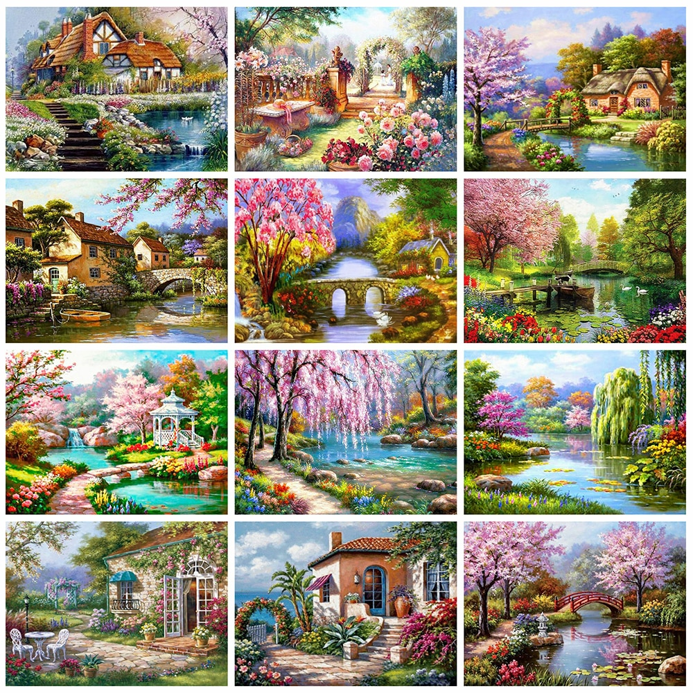 AliExpress - Evershine Diamond Painting Landscape 5D DIY Full Square Drill Embroidery Scenery Mosaic Picture Of Rhinestone Home Decor
