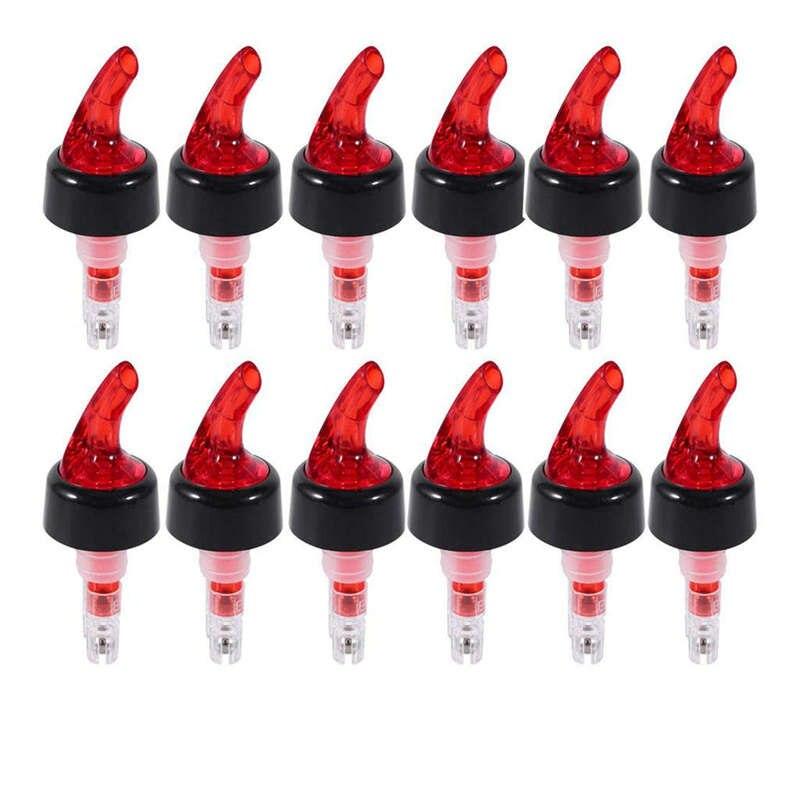 Medir Licor Pourer, 1 Oz Liquor Pourer Medido Medição Automática de Plástico Câmara de Tiro Pourer Bica Stopper Para O Licor de Vinho