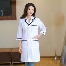 Famale Spa uniform Beauty salon work scrubs uniform Lab coats Long section Uniforms Lab coats Health