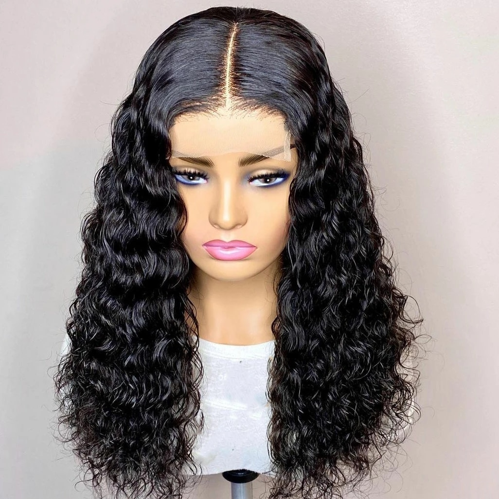 Vearda Black Hair Curly Wigs for Women High Temperature Fiber Lace Front Wig Long Synthetic Wigs Daily Uses Middle Part