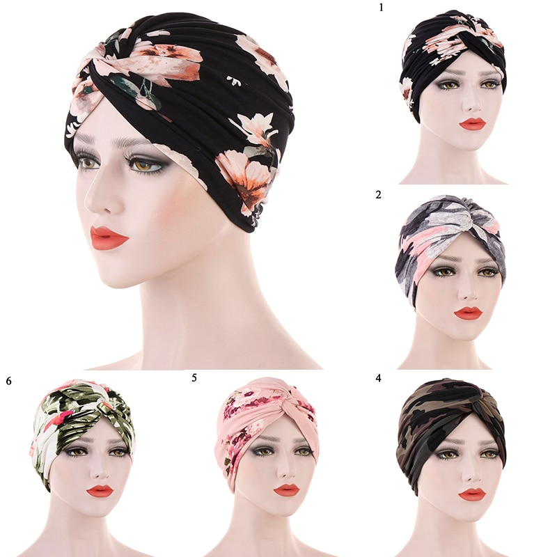 Women Ladies Muslim Hair Loss Stretch Turban Caps Cancer Chemo Hat Solid Color Braid Head Scarf Beanie Bonnet new women stretch solid ruffle turban hat scarf knotted chemo beanie caps headwrap for cancer chemotherapy hair loss accessories