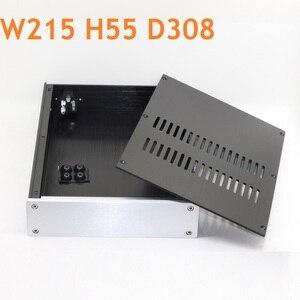Самодельный пустой многофункциональный алюминиевый корпус домашнего усилителя мощности звука преамп класса А чехол для наушников W215 H55 D308