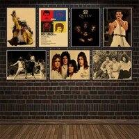 Affiche de film boheme Rhapsody Freddie Mercury  affiche de reine  decor mural de chambre a domicile sur papier Kraft