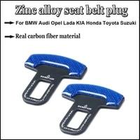 2pcs quality zinc alloy car seat belt clip safety belt plug for bmw audi opel lada kia honda toyota suzuki ford car accessories