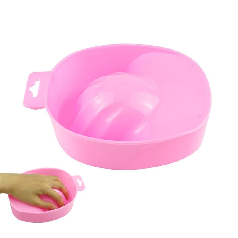 1pcs Nail Art Hand Wash Remover Soak Bowl DIY Salon Nail Spa Bath Treatment Manicure Tools Nails Sup