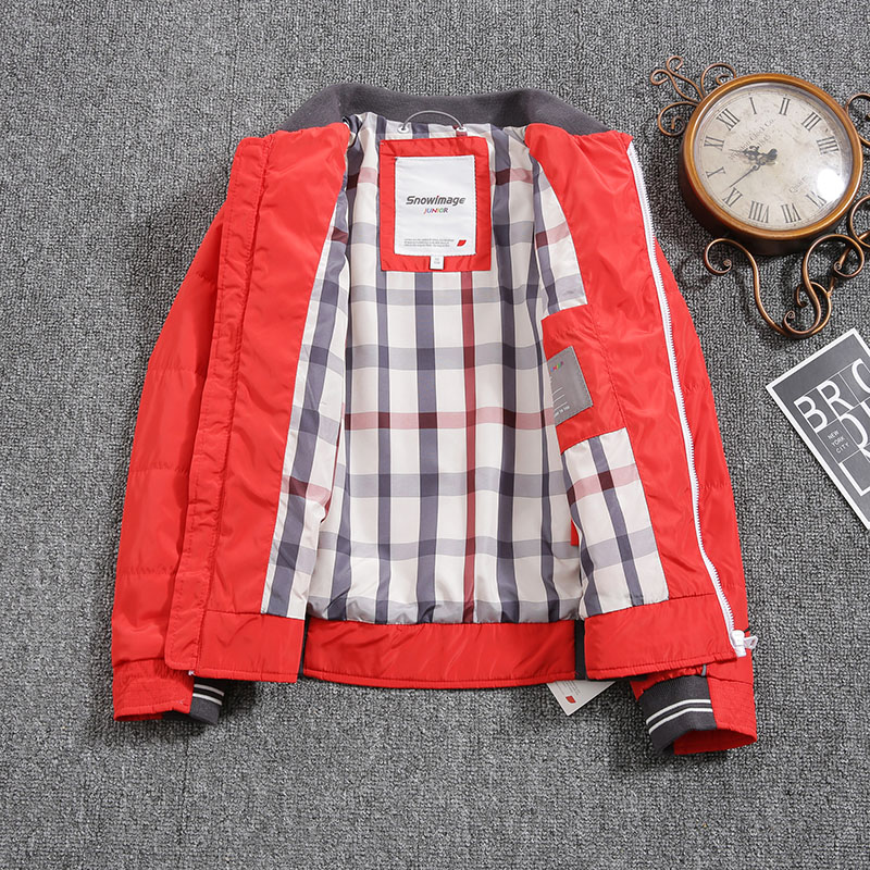 Jacket for Boys 2021 Europe Russia Spring Autumn Thick Parker Coat Red Green Blue Coats with a Hood Height110-134CM 4A-8A P301
