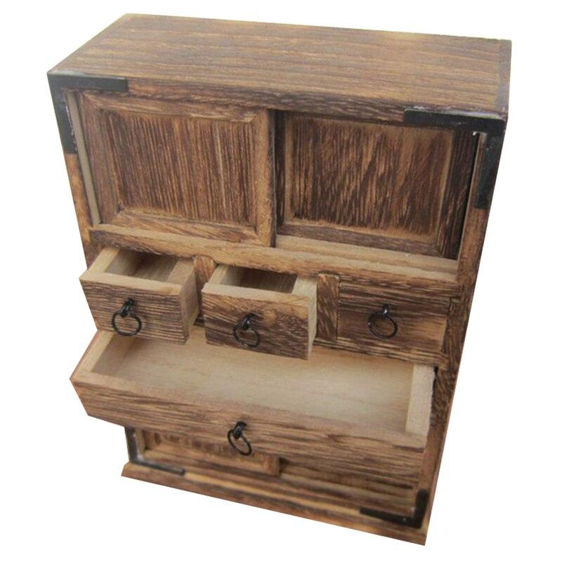 Artesanal antigo armário de madeira sala estar ornamento nova casa mini mobiliário modelo alimentos jogar nostalgia
