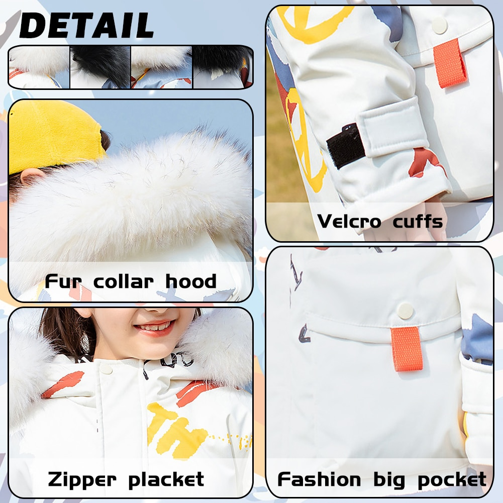 Kids Thicken Hooded Coats Girls Padded Puffer Jackets White Duck Down Outerwear Boys Windproof Overcoat Casual Warm Clothes enlarge