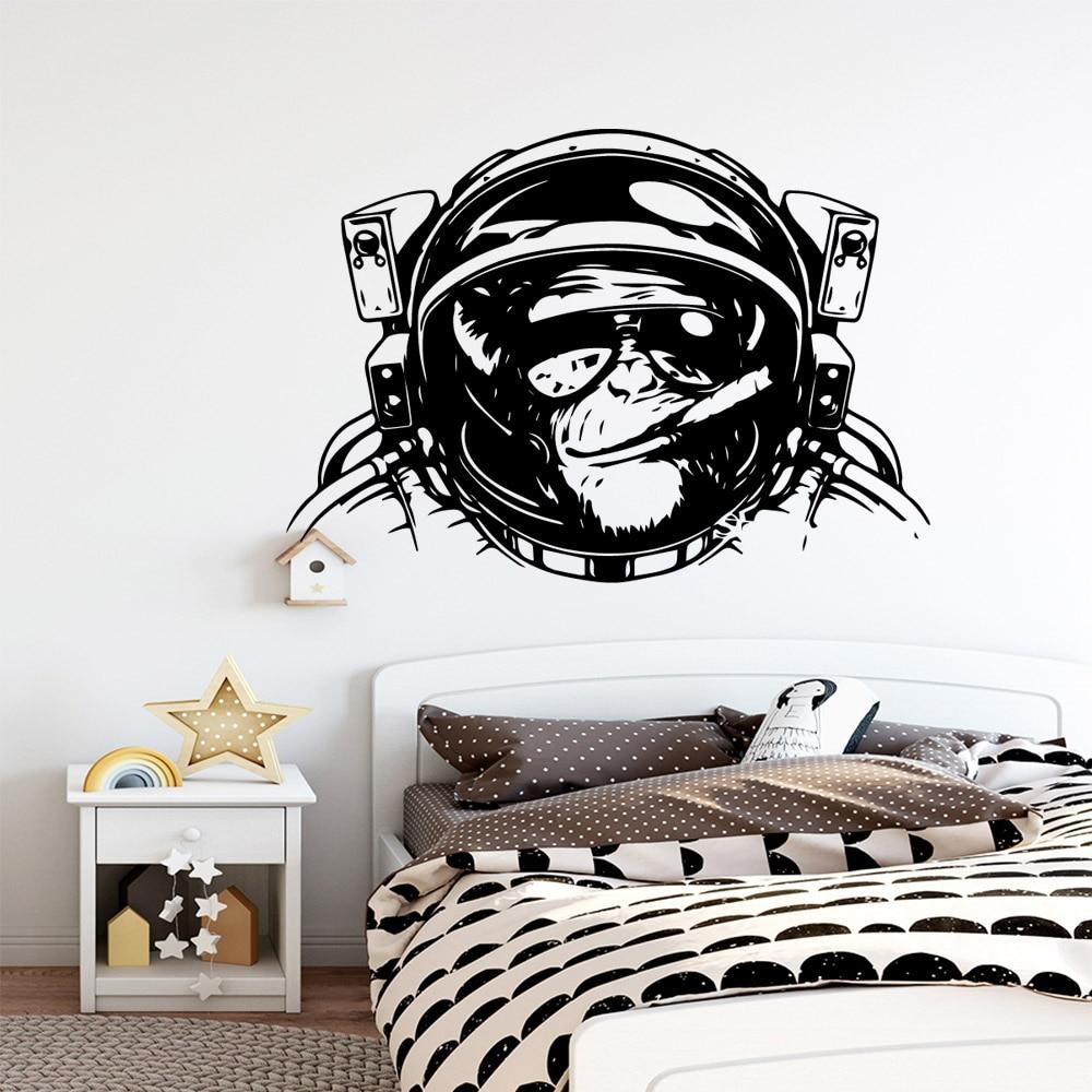 Pegatina de pared de orangután, decoración para el hogar, sala de estar,...