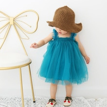 1-6T Toddler Kid Baby Girl Clothes Summer Sleeveless Off shoulder Tutu Dress Elegant Cute Sweet Part
